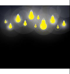 Light bulb on a dark background vector