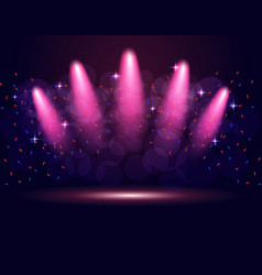 lighting podium stage spotlights abstraction vector image
