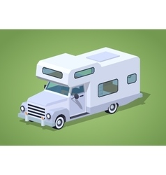 Low poly white camper vector image vector image