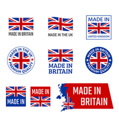 made in united kingdom great britain product vector image