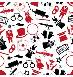 Magician and magic theme set of icons seamless vector