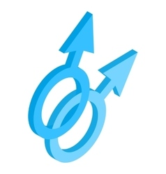 Male gay symbol isometric 3d icon vector