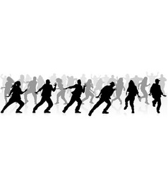 many teenagers dancing vector image