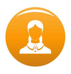 New female avatar icon orange vector