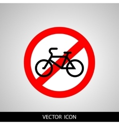 No bicycle bike prohibited symbol Sign vector