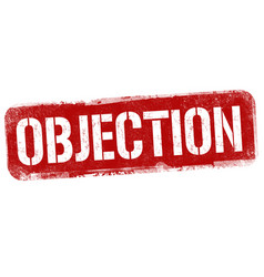 objection sign or stamp vector image