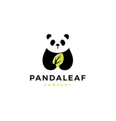 Panda leaf logo icon vector
