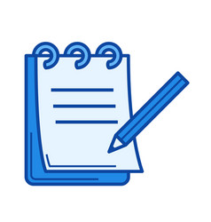 paperwork line icon vector image