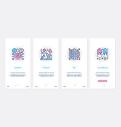 pastry shop confectionery fastfood menu ux ui vector image