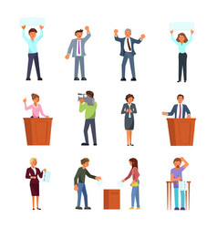 people involved in election process flat vector image