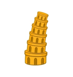 Pisa Tower icon cartoon style vector image