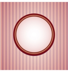 retro wallpapers with round frame vector image