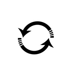 rotation arrows icon black vector image