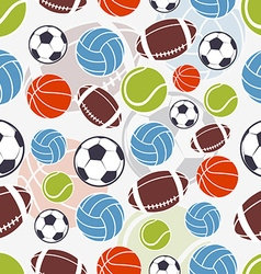 Seamless sports pattern vector
