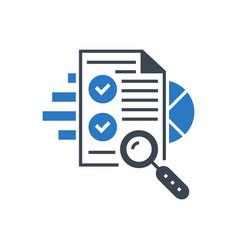 Seo audit glyph icon vector