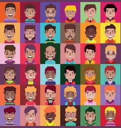 Set 36 avatar icon 02 vector