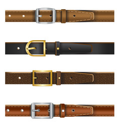 Set different leather belts vector