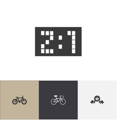 set of 4 editable mixed icons includes symbols vector image