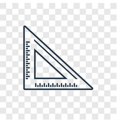 set square concept linear icon isolated on vector image