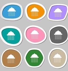 shower icon symbols Multicolored paper stickers vector image
