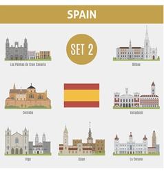 Spain cities vector image