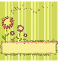 springtime template vector image