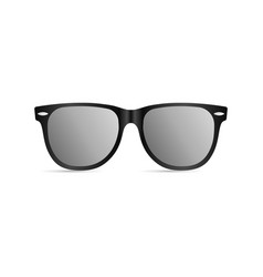 sunglasses with black plastic frame vector image