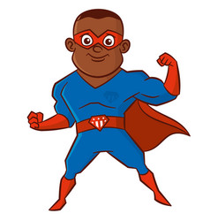 Superhero man cartoon character vector