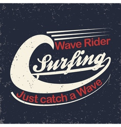 Surfers T-shirt print vector