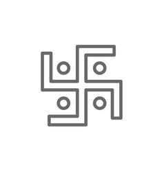 swastika symbol icon spiritual concept vector image