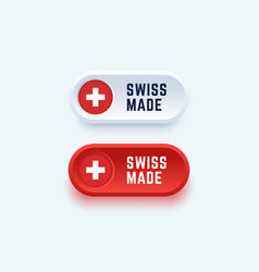 swiss made sign in two color styles vector image