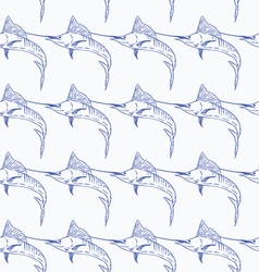 Swordfish seamless pattern vector image