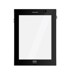 tablet in ipad style black color with blank touch vector image