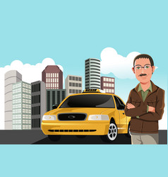 taxi driver vector image