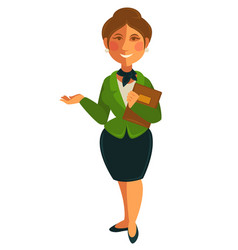 teacher woman of school university profession vector image
