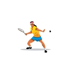 Tennis girl sign vector image