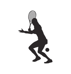 Tennis silhouette vector image