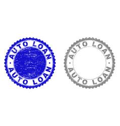 textured auto loan grunge watermarks vector image
