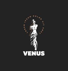 The statue of venus is mondial vector