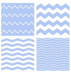 Tile chevron pattern set with sailor blue and whit vector