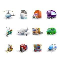Transport And Delivery Icons Set vector image