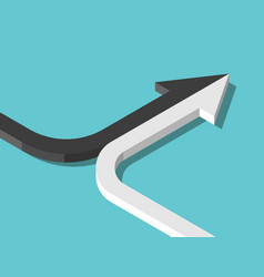 two arrows forming one vector image