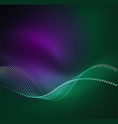 Wave particles background vector