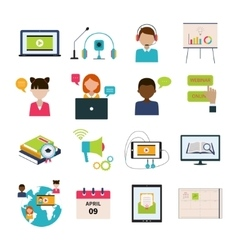 Webinar Icon Set vector image
