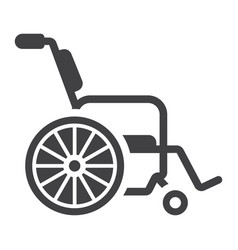 wheelchair glyph icon medicine and healthcare vector image