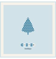 Winter tree frame vector image