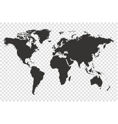 world map detailed vector image