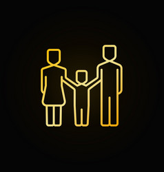 happy family yellow icon vector image vector image