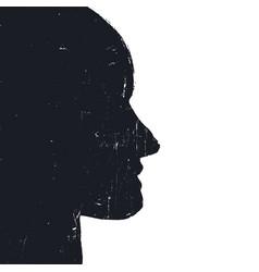 human head symbol background grunge styled vector image