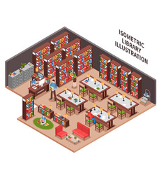 Library isometric vector